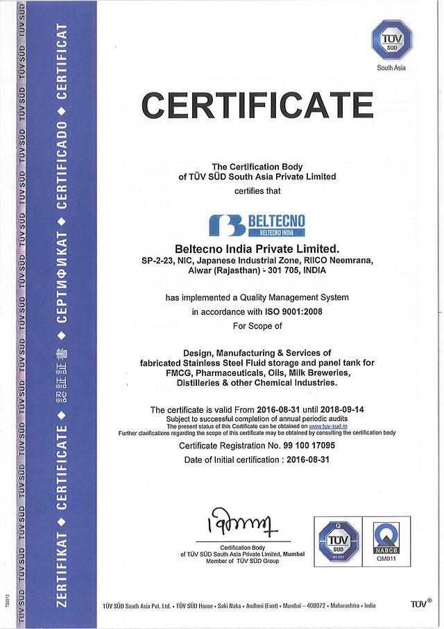 Certificates   Hygienic, Clear, Clean water with stainless ...