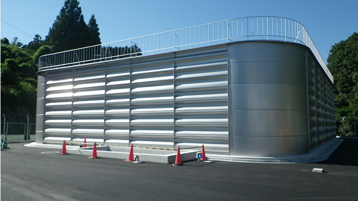 tank is installed in Shizuoka Prefecture, Japan